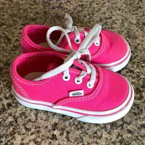 Baby pink authentic vans